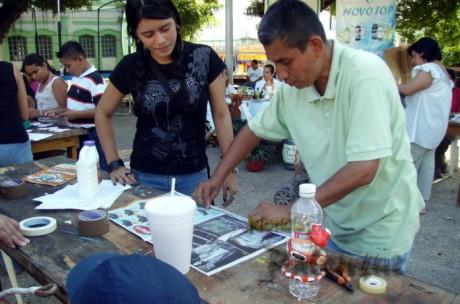 Diversos talleres se impartieron durante la campaña ambientalista.
