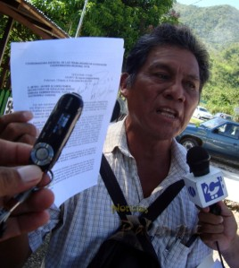 El dirigente presentó los escritos con las irregularidades.