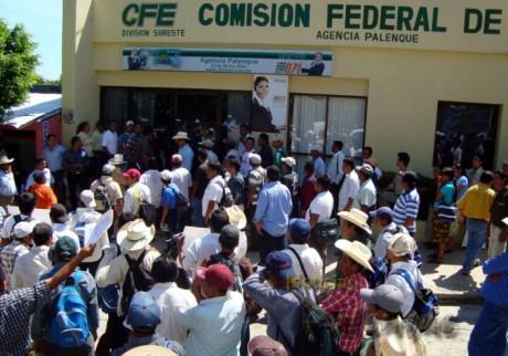 La pasada marcha y plantón frente a la CFE fue para darse a conocer.