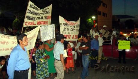 Los colonos reclamaron desatencion e incumplimiento de obras_ER