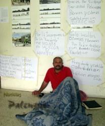 El dirigente transportista se mantuvo en huelga de hambre dos días.
